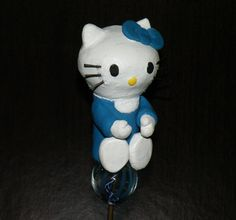 """Hello Kitty Tobacco Pipe Apx. 3"""" Long One of a Kind Hand Crafted Polymer Clay  Glass Lined for the Smoothest, Safest Smoking Experience   New, Never Used  Includes   -2 FREE Glass Screens   -FREE Gift!   -FREE Shipping  Not a random pick. Pictures are of actual item for sale. We do ..."""