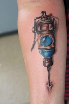 Done by Jordan at K42 Tattoos- Bioshock Eve-Hypo.
