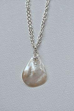 Wire wrapped sea shell pendant i think id do it with the wire wire wrapped shell pendant necklace aloadofball Choice Image