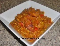 Dominican Style Stewed Pork with Eggplant/Carne de Cerdo Guisada con Berenjena