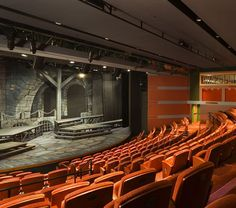 Plaza Theatre El Paso Tx Restoration View Stage From Balcony Very Elegant Color Choices