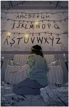 'Stranger Things (RUN)' Poster by -lumossolem- illustrations Stranger Things Tumblr, Stranger Things Netflix, Stranger Things Lights, Series Movies, Tv Series, Film Manga, Illustrator, Animation, Film Serie