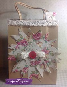 Gift bag made using Crafter's Companion Die'sire Mixed Media Dies -  Pennant banners. Designed by Kelly Lloyd #crafterscompanion