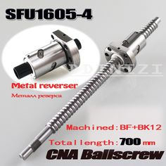 <b>12mm</b> 1204 <b>Ball Screw Rolled</b> C7 <b>ballscrew</b> SFU1204 400mm with ...