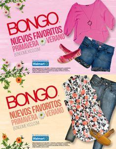 2 looks favoritos para un domingo, con jeans o short, siempre con actitud Bongo. ¡La nueva colección primavera-verano ya está de venta en Walmart!