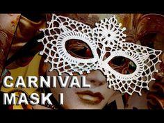 mascara a crochet carnavales paso a paso - YouTube
