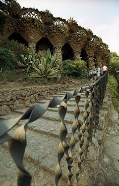 I remember sitting under these arches with my son, contemplating | Park Guell, Barcelona