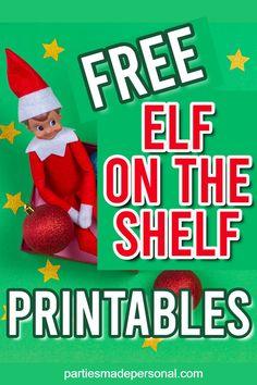 Free Elf on the Shelf Printables (Fun Activities and Signs) Elf On The Self, The Elf, Christmas Gift Wrapping, Christmas Diy, Christmas 2019, Holiday, Christmas Activities, Fun Activities, Elf Decorations