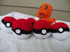 PokeBall inspired by Pokemon Crochet Plush by CrochetAvenue, $6.99