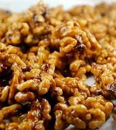Maple Walnuts. I do this all the time for an easy snack; Heat pan with some oil, add walnuts (or pecans), drizzle with fresh maple syrup from sugar bush, add some sea salt. Let this roast for 5-10. VOILA!!