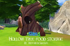 TS4: Hollow Tree as a Food Storage - History Lover's Sims Blog