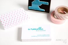 new DIY business cards … | Armelle Blog