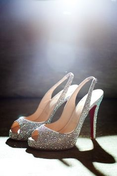 Christian Louboutins....♥   Cinderella I want to sparkle as I tour the world.