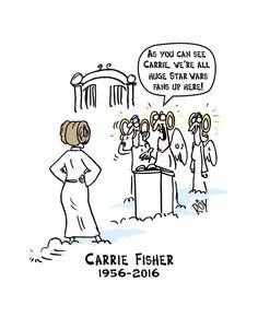 15 ilustrações emocionantes que homenageiam a atriz Carrie Fisher