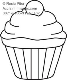 Pretty Cupcake Coloring Page | Free Printable Coloring Pages | Back ...