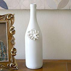 Old wine bottle craft.
