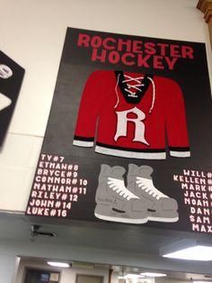 Hockey tournament sign Hockey Crafts, Hockey Decor, Hockey Birthday, Hockey Party, Hockey Girls, Hockey Mom, Hockey Stuff, Hockey Coach, Hockey Teams