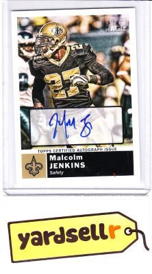 8ef589f31 New Orleans Saints Autograph Rookie Football Card Malcolm Jenkins