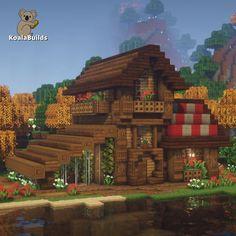 Minecraft Small House, Casa Medieval Minecraft, Minecraft Cottage, Cute Minecraft Houses, Minecraft House Designs, Minecraft Blueprints, Cool Minecraft, Minecraft Ideas, Minecraft Structures