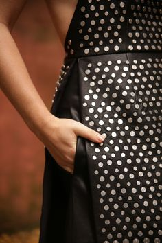 studded dress detail