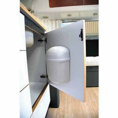 The Camco 43961 Wall Mount RV Trash Can is compact and perfect for tight spaces in your RV, camper, or boat. It features a swing-top lid and is easy to install. Camping Table, Rv Camping, Glamping, Camping Hacks, Luxury Camping, Camping Essentials, Camping Kitchen, Airstream Camping, Camping Cooking