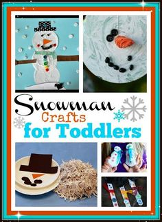 If you are looking for Winter crafts for toddlers you will love our collection of snowman craft activities. Lots of great ideas for toddlers and preschoolers.