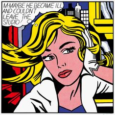 Roy Lichtenstein, 'M-Maybe' (1965). Oil and magna on canvas. Museum Ludwig, Cologne, Germany.