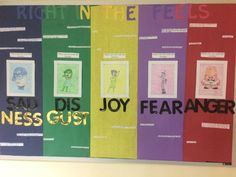 Bulletin Board #5: Inside Out  This board has the five emotions and some healthy outlets for each of them.