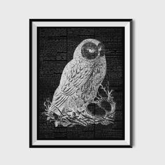 Black WhiteOwl Dictionary PrintOwl Dictionary by BWDecor on Etsy