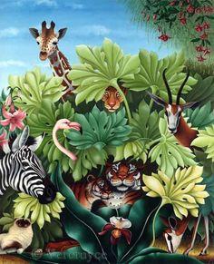 L'arbre de Nôa (Painting),   par Bernard Vercruyce Huile sur toile