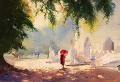 Aquarelle  by Myoe Win Aung