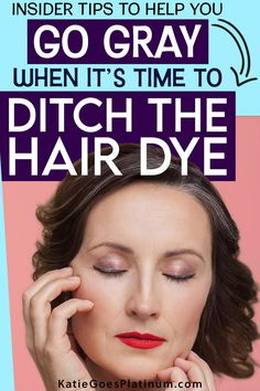 If you never dyed your hair, going gray is pretty easy - you just wait, and it happens (depending on genetics!) But if you spent years dyeing your hair, going gray gets a little trickier. In this post, I lay out all your options. The one you choose depends on your budget, your temperament and your personality! Covering Gray Hair, Transition To Gray Hair, Platinum Grey, Color Your Hair, Cut My Hair, Going Gray, Light Hair, You Choose, Grey Hair