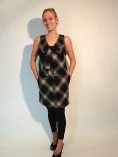 NWOT Robert Rodriquez Bowtie Plaid Wear To Work Dress, size 6. $99.99 www.darlingdiscounts.com