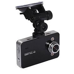 Car DVR Camcorder Camera K6000 1080P Full HD Night Vision 140 Angle Lens with 2.7 TFT LCD Screen G-Sensor - USD $ 37.13