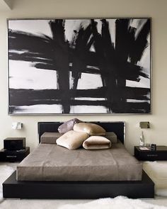 Big Art In The Bedroom Home Bedroom Decor Diy Home Decor intended for Incredible Painting in Bedroom - Home Design Ideas My New Room, My Room, Korean Bedroom, Interior Paint Palettes, Home Bedroom, Bedroom Decor, Bedroom Apartment, Bedroom Modern, Apartment Therapy
