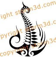 New Zealand Maori Symbols | Original Maori silverfern tattoo design, New Zealand national symbol ...