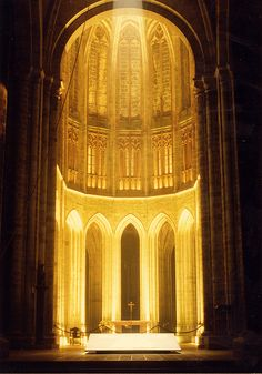 Main altar of abbey of Mont Saint Michel - Altar & Nave | Flickr - Photo Sharing!