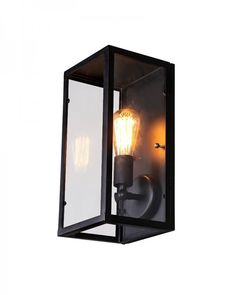 Industrial Style Iron Framed Glass Shade Wall Sconce