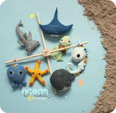 BABY MOBILE, Baby-Krippe-Mobile unter dem Meer, Ocean Baby mobile, Meerestiere, Meeresbewohner, Baby-Geschenke, neue Baby-Geschenk, Sterne Fisch Hai