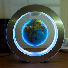 LED Floating Globe - Sky blue