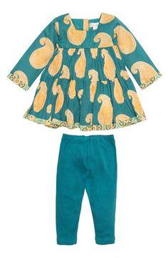 Masalababy Paisley Print Dress & Leggings (Baby Girls)