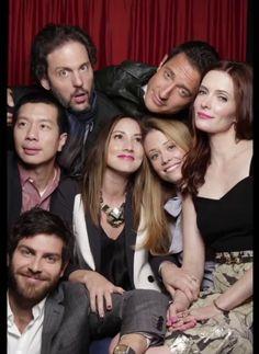 The Grimm's players Monroe, Capt. Reinard, Wu, Rosalee, Adalind, Juliette and Nick.