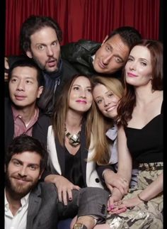 The Grimm's players Monroe, Capt. Reinard, Wu, Rosalee, Adalind, Juliette and Nick.