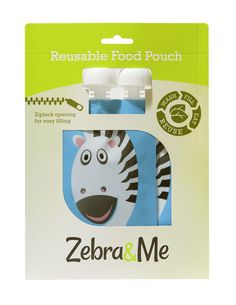 Zebra&Me Reusable Food Pouch - Smoothie, Pouch, Chart, Box, Snare Drum, Sachets, Smoothies, Porch, Belly Pouch