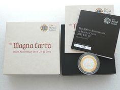 2015 Magna Carta £2 Two Pound Silver Proof Coin Box Coa