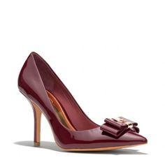 The Landrie Heel from Coach--double winner this fall with both the color and the bow!