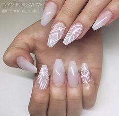 Ballerina shaped nails
