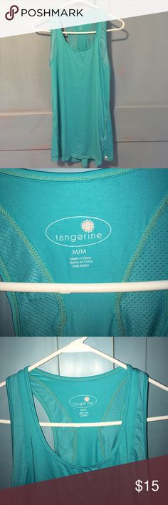 Medium turquoise Tangerine athletic tank. Made by Tangerine. This tank is like new. It is a gorgeous turquoise color and is long enough to cover your assets:) medium. tangerine Tops Tank Tops