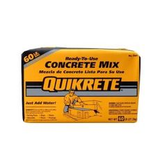 QUIKRETE High Strength Concrete Mix at Lowe's. Properly graded sand and gravel blended with portland cement for use in general concrete applications. Use for: sidewalks, driveways, setting posts, Pouring Concrete Slab, Concrete Cement, Concrete Projects, Concrete Ratio, Concrete Casting, Diy Projects, Cement Crafts, Mosaic Crafts, Mosaic Projects