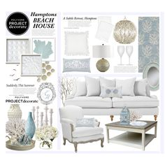 """The Hamptons Subtle Beach Retreat"" by hmb213 on Polyvore"